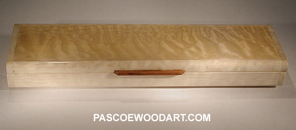 Handmade quited maple super slim pill box - weekly pill organizer