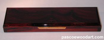 Cocobolo wood pill box - Weekly pill organizer