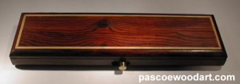 Cocobolo wood weekly pill box for travel
