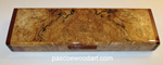 Handmade Blackline Spalted Maple Burl Super Slim Bill Box S-14