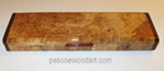 Handmade Blackline Spalted Maple Burl Super Slim Pill Box - Weekly Pill Organizer - 7 Day Medication Minder