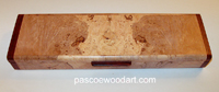 Handmade maple burl super slim weekly pill box S-17
