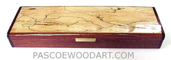 Spalted maple wood weekly pill organizer S-18