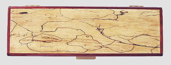 Spalted maple box top - Decorative wood weekly pill box - 7 day pill organizer