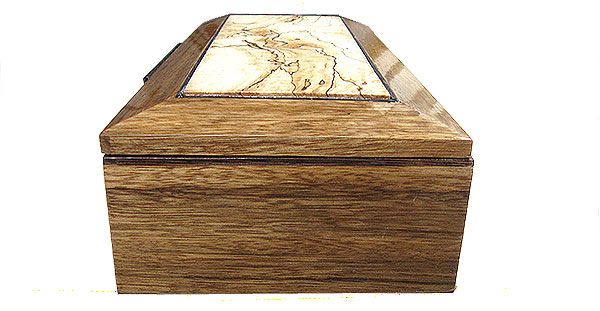 Black limba box side - Handcrafted wood men's valet box