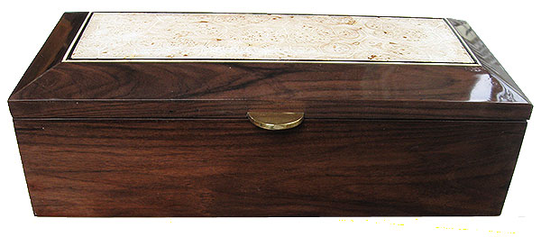 Santos rosewood box front - Handmade wood box