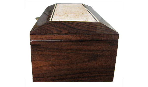 SDantos rosewood box side - Handcrafted decorative men's valet box