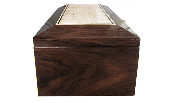 Santos rosewood box side - Handcrafted wood box