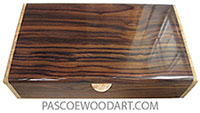 Handmade wood box - Men's valet box, keepsake box made of East Indian rosewood with maple burl ends