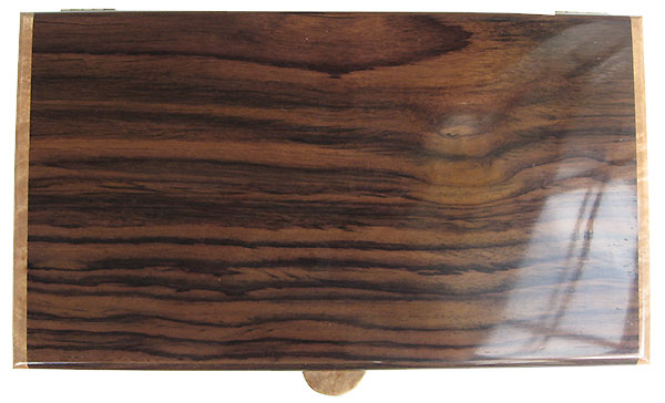 East Indian rosewood box top - Hanmade wood box - Men's valet box