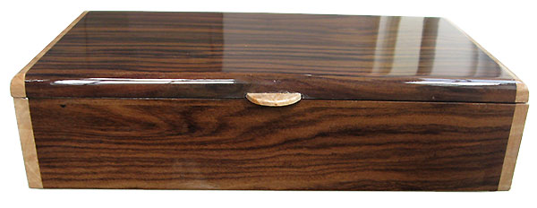 East Indian rosewood box front - Handmade wood box - Men's valet box