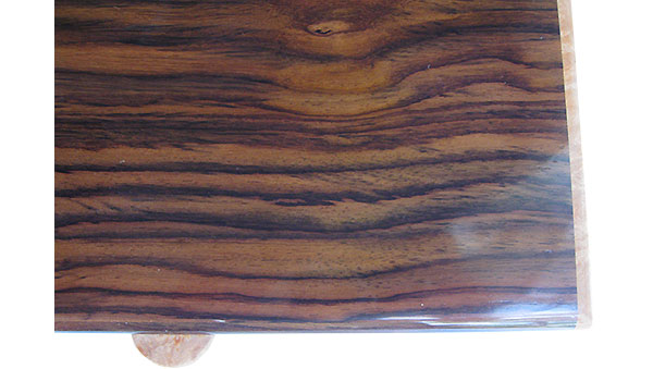 East Indan rosewood box top close up - Handmade wood box