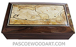 Handmade wood box - Decorative wood men's valet box or keepsake box made of ziricote with blackline spalted maple ends