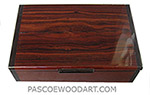 Handmade wood box - Decorative wood men's valet box or keepsake box made of cocobolo