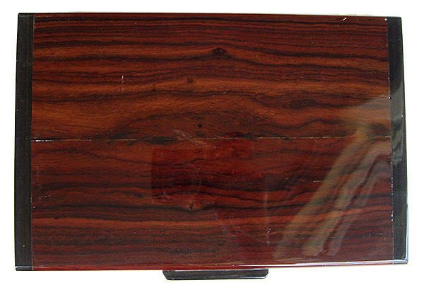 Cocobolo box top  - Handmade decorative wood men's valet box or keepsake box