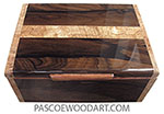 Handmade wood box - Men's valet box made of ziricote with spalted maple strip centered top and spalted maple burl ends