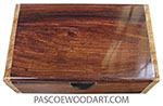 Handmade wood box - Men's valet box or keepsake box made of Honduras rosewood with maple burl ends