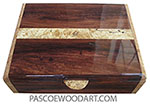 Handmade wood box - Me's valet box made of Honduras Rosewood with spalted maple burl  inlaid top and maple burl ends