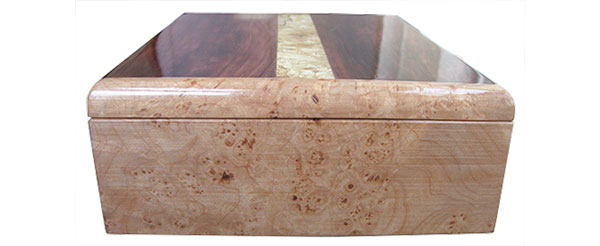 Maple burl box end - Handmade wood box