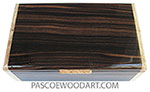 Handmade wood box - Men' valet box made of macassar ebony with maple burl ends