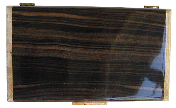 Macassar ebony box top - Handmade wood box  - men's valet box