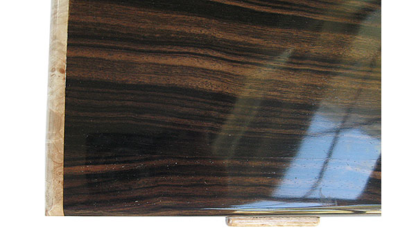 Macassar ebony box top close up - handmade wood box - Men's valet box