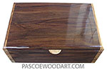 Handmade wood box - Men's valet box made of East Indian rosewood with olive ends
