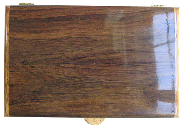 East Indian rosewood box top - Handmade wood box, men's valet box, keepsake box