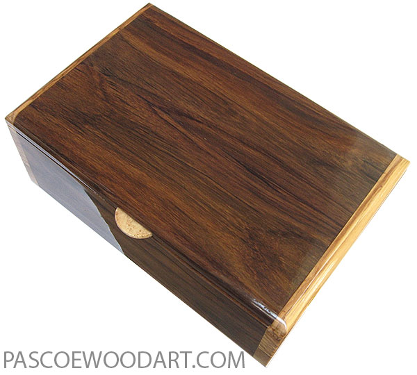 Handmade wood box - Medium size men's valet box, keepsake box made of Indian rosewood with olive ends