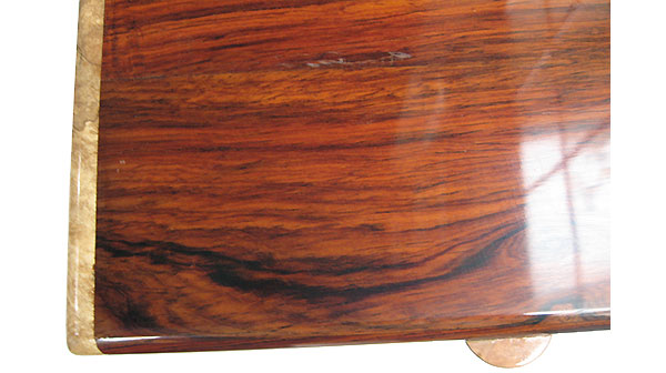 Cocobolo box top close up - Handmade wood box