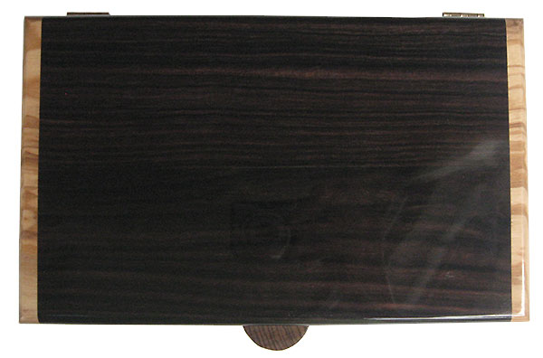 Macassar ebony box top - Handmade wood box, men's valet box