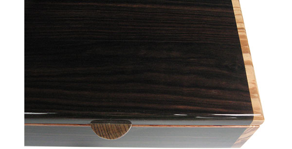 Macassar ebony box top closeup - Handmade wood box