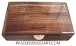 Handmade wood box - Mens' valet box MV-24