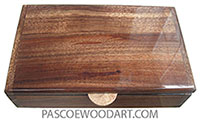 Handmade wood box - Men's valet box or keepsake box made of  Hawaiian Koa