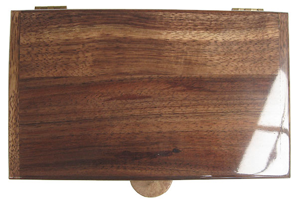 Hawaiian koa box top - Handmade wood box, men's valet box