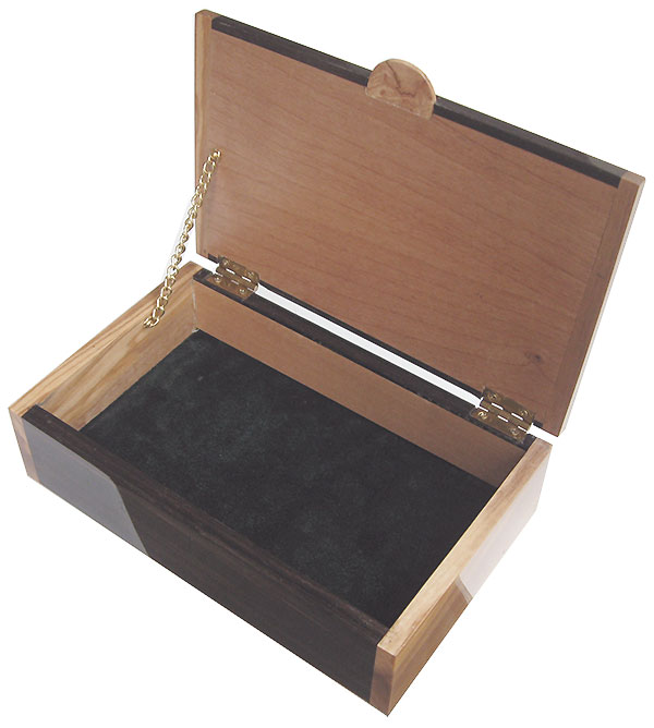 Handmade wood box-  open view