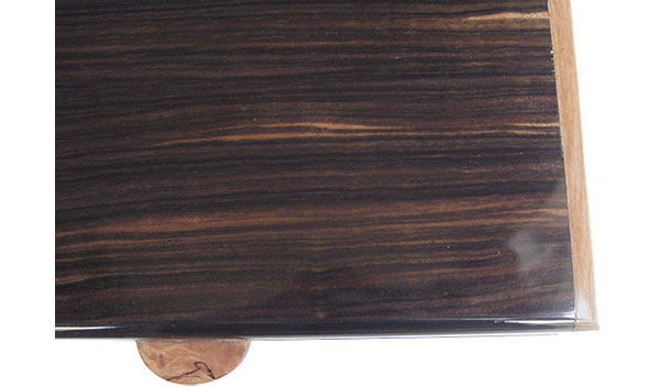Macassar ebony box top close up - Handmade wood box