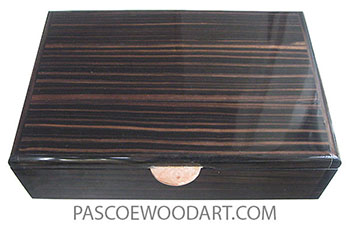 Handmade wood box - Men's valet box, keepsake box made of macassar ebony