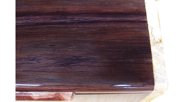 Asian ebony box top close up - Handmade wood box