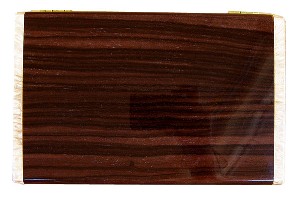 Macassar ebony box top - Handmade wood box - Decorative wood men's valet box or keepsake box