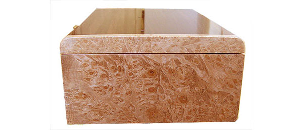 Maple burl box end - Handmade decorative wood box