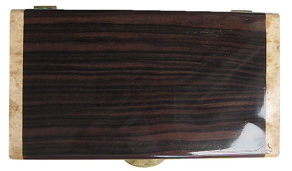 Macassar ebony box top - Handmade wood decorative men's valet box or keepsake box