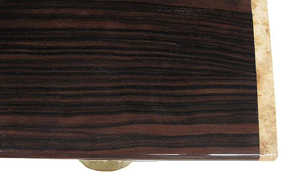 Macassar ebony box top - close up - Handmade decorative wood box