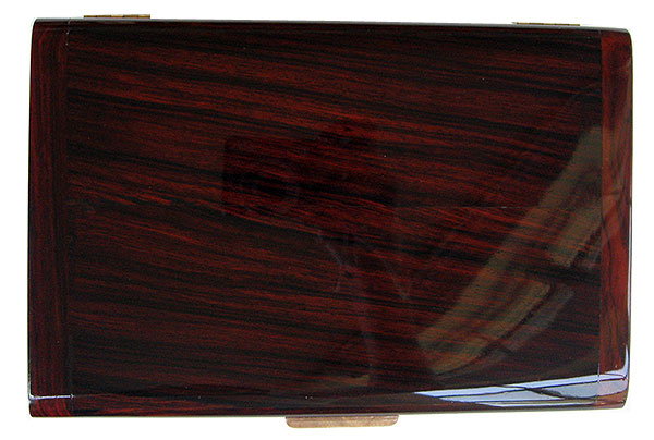 Cocobolo box top - Handmade wood decorative men's valet box or keepsake box