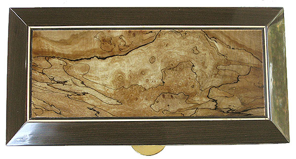 Spalted maple burl framed in ziricote beveled box top
