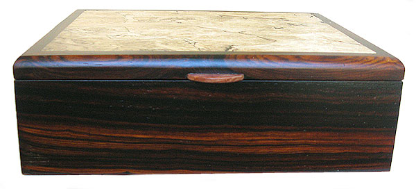 Handcrafted decorative wood box - Cocobolo front view