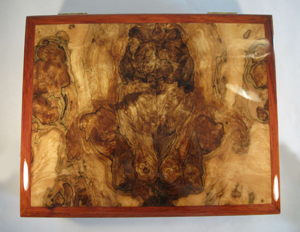 Men's Valet Box - Spalted maple burl top
