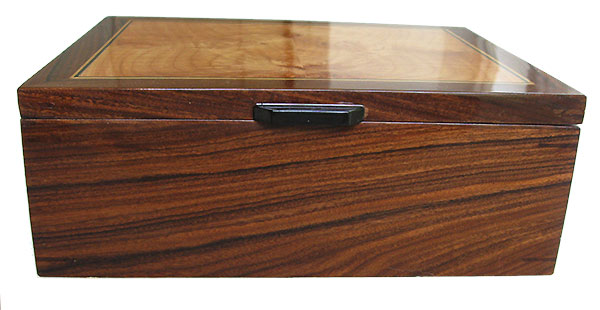 Santos rosewood box front - Handcrafted wood box- Decorative men's valet, keepsake box