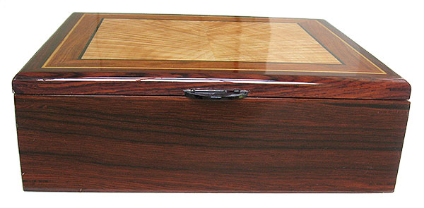 Handcraftd wood box - Cocobolo box front - Decorative men's valet box, keepsake box