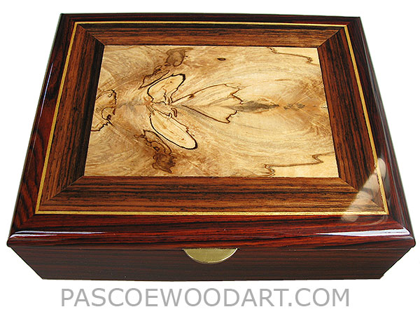 handcrafted wood box decorative menu0027s valet box or keepsake box made of cocobolo with spalted